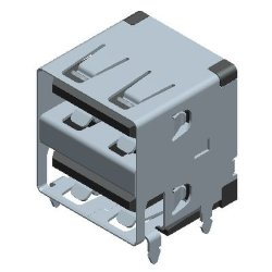 Два порта USB-Af зарядное устройство с электронным управлением печатной платы разъема компонента