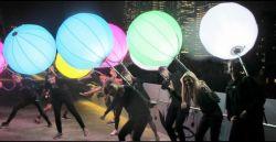 A luz de LED mochila insuflável de caminhada de publicidade para promoção comercial de balão