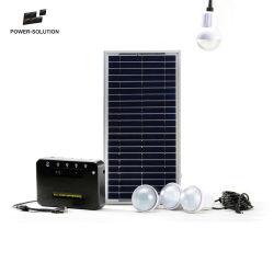 Energía verde portátil con sistema de iluminación solar 4 bombillas LED para Kenya
