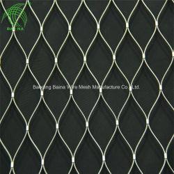 Edelstahl-Drahtseil-Metallineinander greifen-Filetarbeits-schützenden Zaun X-Neigen