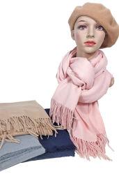 2021 Herbst Winter Plaid New Arriven Designer Brand Damen Schals Schal Polyester einfarbig Borstenlang Schal Damen Schal