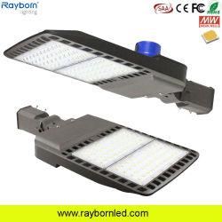 Faro de la fotocélula de iluminación exterior 100W 120W 150W 200W 250W 300W LED ajustable esfera Estacionamiento caja de zapatos de la luz de la calle con IK09 IP66.