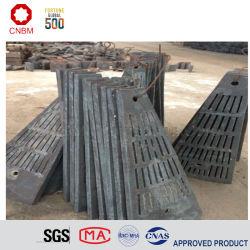 China alto preço de fábrica Mn/Cr liga de aço moinho de bolas/camisas de moinho