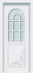 Vidrio templado pintado compuesto de madera maciza puerta interior (CX-3016)