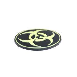 PVC ecológica de parches de silicona caucho de logotipo personalizado para la ropa