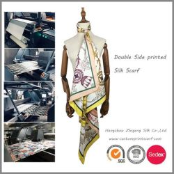 La conception personnalisée Double-Side Foulard en Soie imprimée