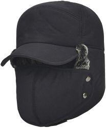 Nero colore 100% Ployester Foderato caldo cappello invernale lungo Tempo attività all'aperto cappelli invernali