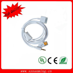 USB Dock Cable di 3.5mm Audio Cable Line fuori +Micro