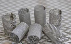 5.85 مم الارتفاع 100 مايكرون الفولاذ المقاوم للصدأ النسيج الشبكي الأسلاك منسوجة أنبوب مصفاة المرشح