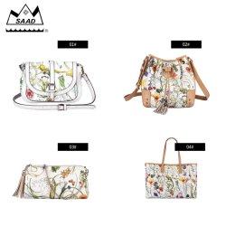 Les meilleures vacances de sac floral élégant Nouvelle PU courroie longue avec de belles Look d'été