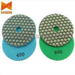 "4"" 100mm Diamond Polishing Pads souple à sec"