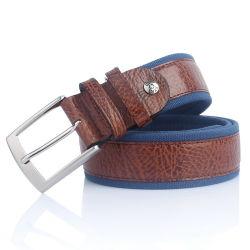 جلد طبيعي حزام قماش تصدير ايطاليا العلامة التجارية الرجال الحزام (SR-13027)