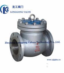 API 6D/BS 1868 WCB/SS304/SS316 주조 강철 Class150 플랜지 스윙 점검 밸브