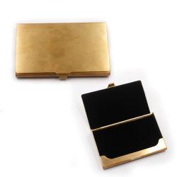 Portafoglio di carte di credito tascabile Luxury Slim in ottone con nome commerciale Supporto per valigetta