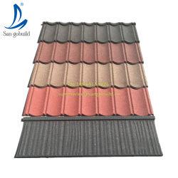 別荘の屋上デザイン現代石の上塗を施してある鋼鉄屋根ふきシートの建築材料の金属の屋根瓦