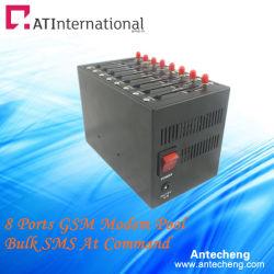 8포트 Wavecom Q2406B 산업용 모뎀 풀 벌크 SMS/MMS 장치