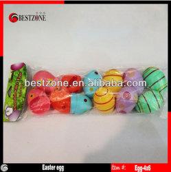 플라스틱 부활절 달걀 (24 팩)는 Asst 6개의 색깔을 경첩을 달았다