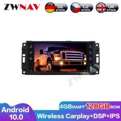 4 Go+128Carplay Android 10 l'écran sans fil lecteur multimédia pour Jeep Compass Wrangler Navi GPS Auto Radio audio stéréo de l'unité de tête