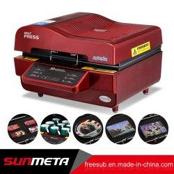 우 Sunmeta 3D 승화 진공 열전달 프레스 기계