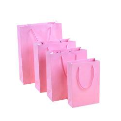 Личную Печать логотипа дамы нижнее белье розового цвета сумку для бумаги