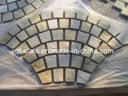 Redes de ventilador quartzito Ouro mel Stick para pavimentação de pedra/Espalhadoras (T-YXS14JZ)