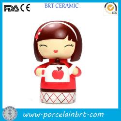 Décoration d'accueil favorable sourire poupée fille de cadeaux en céramique