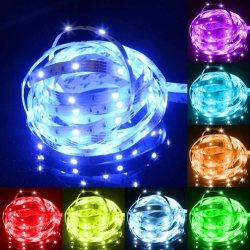 LED 지구 빛 장비, LED 빛 지구 방수 IP65,10m (2X5m, 32.8FT) SMD 5050 홈을%s IR 먼 관제사와 더불어 300의 LEDs, 부엌, 당, 크리스마스, DC 12V 5A