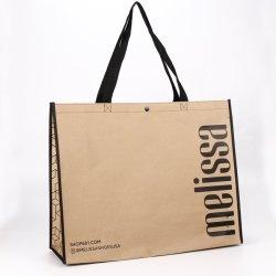 茶色 Kraft ペーパーラミネート加工された不織製ギフト包装キャリアトート ショッピングバッグ