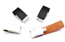 熱い押すロゴU152/Le05の最もよい昇進のギフトの革USBのフラッシュ駆動機構