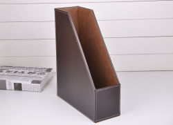 Un marrón de cuero de PU4 titular del archivo