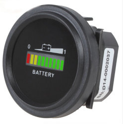 12V/24V/36V/48V/72V digital LED indicador de carga de estado da bateria com Preto do Medidor do Horímetro