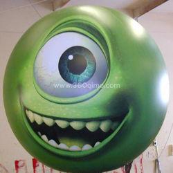 Ihb212 et la forme d'impression couleur vert fait en usine MOQ 1PC haut de la qualité commerciale personnalisée Big Air Balloon gonflables pour la vente