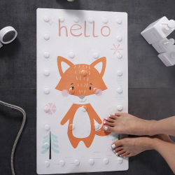 Cartoon tapete de banheiro anti Slip Turco Chuveiro Mat Pé de PVC tapetes de Massagem