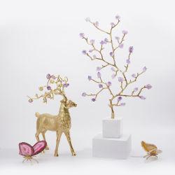 Sujetalibros, bandeja, Cenicero, candelabros, escritorio, la decoración del hogar Metal Cristal ágata