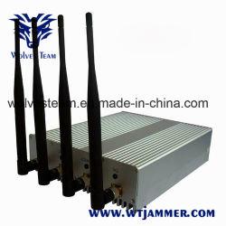 Antena 4 con control remoto de la señal de celular Jammer bloqueador