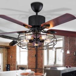 ثريا مروحة علوية مروحة ريترو مروحة كهربائية كتم صوت مروحة سقف مع خفيف