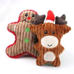 Perro de Navidad Santa Claus y renos/Gingerbread Man Chew Squeaker Peluches peluche suave