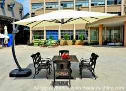 水ベースが付いている家具浜の庭のアルミ合金のローマの屋外の傘