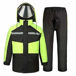 남자와 여자 재사용할 수 있는 우천용 의류 (비 재킷과 놓이는 비 바지) 성인을%s 비 한 벌은 방수 방풍 두건이 있는 방수 처리한다