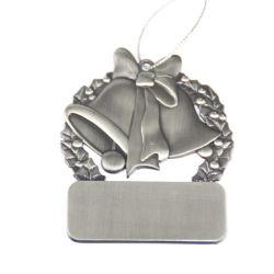 Commerce de gros cadeau de Noël en métal argenté Bell Médaille personnalisé