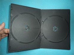 Caja de DVD DVD negro negro negro cubierta de la caja del DVD de doble Rectange 5mm de largo