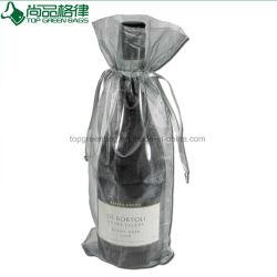 Paquete de regalo de joyas de organza Organza Bolsa vino de Navidad