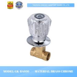 Acrilico di cristallo d'ottone dell'America costruito in valvola di angolo del rubinetto del bagno