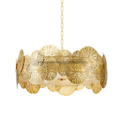 American Creative lumière luxe conception creuse en fer Fine Art lustre (Km2093)