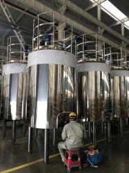 Alimentação diretamente da fábrica com certificação ASME depósito de mistura de Aço Inoxidável