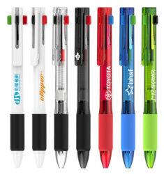 In het groot Vrije Steekproeven in Embleem 4 van de Douane van de Voorraad Promotie in 1 Pen van de Kleur van Kleuren Multi