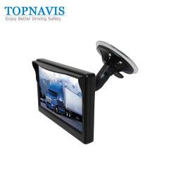 5バックアップカメラDVDを逆転させるためのインチのデジタル風防ガラスTFT LCD車のモニタ