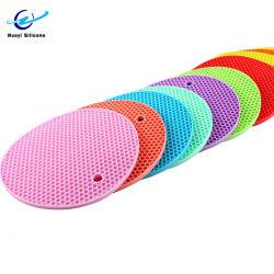 Silicone em forma de favo de mel Coasters Pot Titular Cup Mat