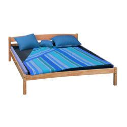 En chêne massif antique en bois de style français classique lit double