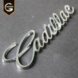 주문 편지 명찰 Signage에 의하여 솔질된 강철 3D 표시 금속은 OEM-0411를 써 넣는다